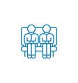 company visitors linear icon concept company vector image