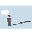 Devil shadow behind a smiling face of businessmen vector image vector image