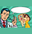 doctor diet and woman with pizza vector image vector image
