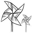 doodle pinwheel vector image vector image