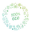 eco products logo concept with line icons vector image vector image