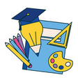 education supplies school vector image vector image