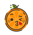 emoji - kiss orange smile isolated vector image vector image