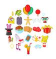 festive clothing icons set cartoon style vector image
