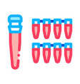 flask paternity analysis icon outline vector image
