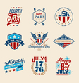 Fourth of July Badges vector image