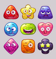 funny cartoon colorful glossy shapes characters vector image vector image