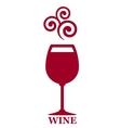 goblet of red wine vector image vector image