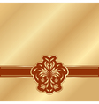 gold background with a red victorian pattern vector image