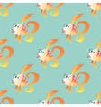 Goldfish marine seamless pattern background vector image vector image
