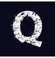 Grunge letter Q vector image