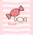 happy valentines day with cute candy valentines vector image