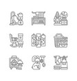 home decor linear icons set vector image vector image