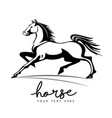 horse animal silhouette black logo vector image