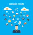 informational overload concept vector image vector image