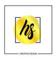 initial letter hs logo template design vector image