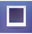 Isolated blank picture or photo frame vector image