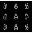 line locks icon set vector image vector image