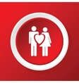 Love couple icon on red vector image