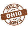 made in ohio brown grunge round stamp vector image vector image