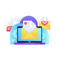 modern email marketing delivery ad for spread of vector image