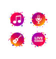 musical elements icon microphone music note vector image vector image