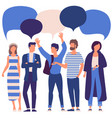 people with speech bubbles vector image vector image