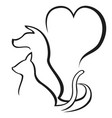 Pet caring outline logo