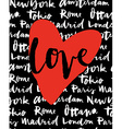 postcard love cities world vector image vector image