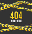 realistic detailed 3d 404 page background card vector image