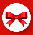 red bow icon flat style vector image