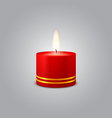 Red Christmas Candle vector image