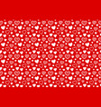seamless pattern with hearts on red background vector image vector image