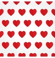seamless pattern with red heart in flat vector image vector image