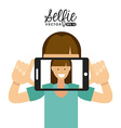 selfie design vector image vector image