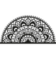 Semi-ircular ornament in ethnic style vector image vector image