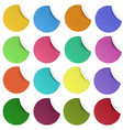set of glaring color round paper stickers vector image vector image