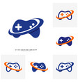 set of joystick game logo concept template design vector image