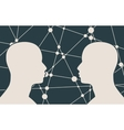 silhouette of a mans head vector image vector image