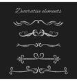 silver text dividers set ornamental decorative vector image vector image