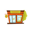 small city market exterior of grocery store vector image