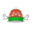 surprised winter hat in a cartoon bag vector image vector image