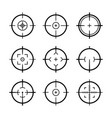 target aim icons military set crosshair target vector image vector image