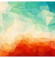 Teal orange abstract background with triangle vector image vector image