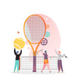 tennis game concept for web banner website vector image