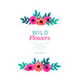 tropical flowers border template vertical design vector image