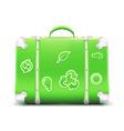 vintage green suitcase vector image vector image