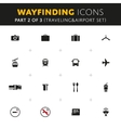 Wayfinding Icons Set vector image vector image