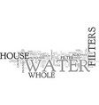 whole house water filters text word cloud concept vector image vector image