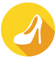women boots icon with a long shadow vector image vector image